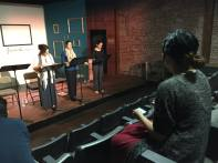 "Final Rehearsal of ""Nobody's Child"" Artists At Play 2015 Reading Series, Los Angeles, CA."