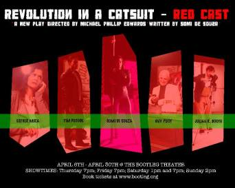 "World Premiere of ""Revolution In A Catsuit"" at The Bootleg Theater in Los Angeles, CA. Spring, 2017."